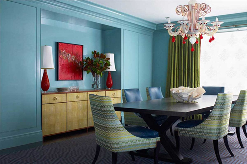 Colour learning the basics interior design for Dining room ideas in blue